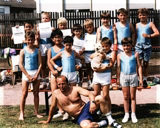 1991: Stammgast bei jedem Gauturnfest - eine Abordnung des TVM, in diesem Jahr in Grosswallstadt