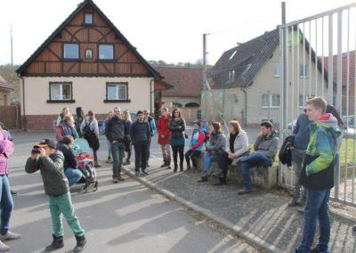 """Familienwanderung zu den """"Bauernhöfen"""" nach Wenigumstadt 11. März 2017"""